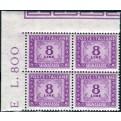 1954 Repubblica segnatasse 8 lire stelle quartina