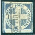 1860 Napoli 1/2 t. azzurro Crocetta usato