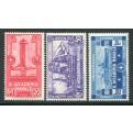 1931 Regno Accademia Navale serie di 3 valori nuovi