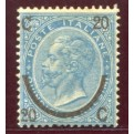 1865 Regno ferro di Cavallo II tipo nuovo