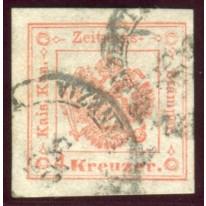 1858 Lombardo Veneto tasse giornali 4 kr.