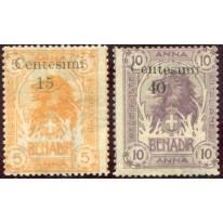 1905 Somalia serie 2 valori Zanzibar nuovi