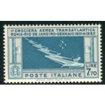 1930 Posta Aerea 7,70 lire Balbo nuovo 7 stelle