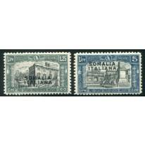 1927 Somalia Milizia 2 valori NON EMESSI