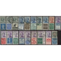 1923-4 Regno Pubblicitari serie usata centrata
