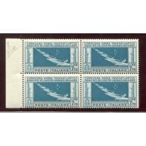 1930 Posta Aerea 7,70 lire Balbo nuovo 7 stelle quartina