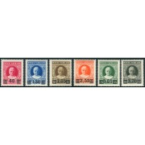 1934 Vaticano Provvisoria serie 6 valori nuovi