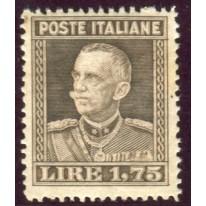 1929 Regno lire 1,75 bruno dent. 13 3/4 nuovo
