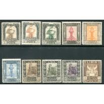 1924 Libia Pittorica senza filigrana 10 valori