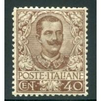 1901 Regno Floreale 40 cent. bruno centrato
