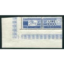 1954 Repubblica Pacchi 1000 lire Cavallino con angolo