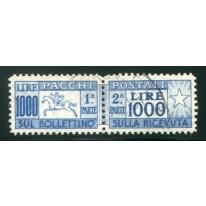 1954 Repubblica Pacchi 1000 lire Cavallino usato