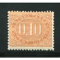 1869 Regno Segnatasse 10 cent. nuovo